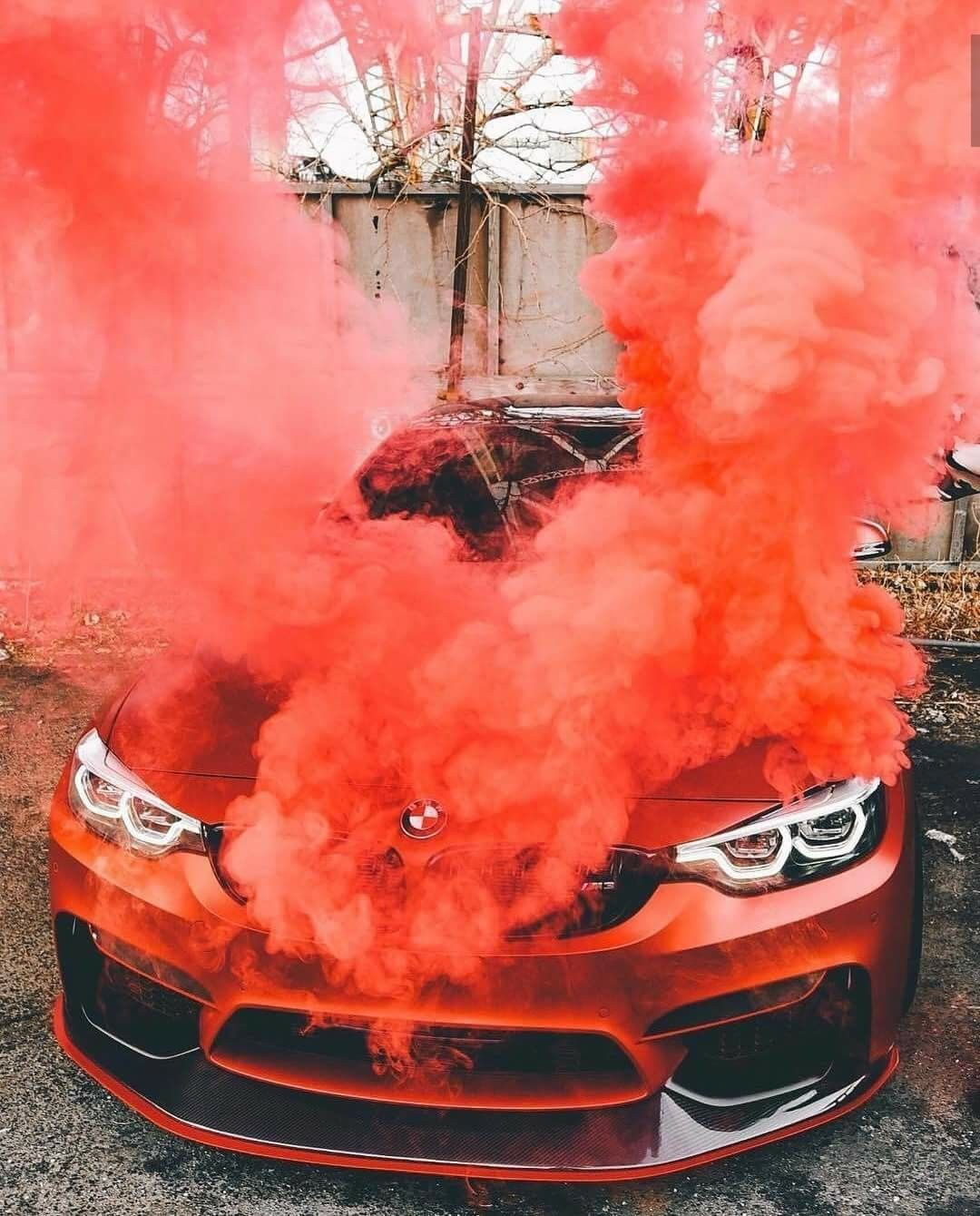 BMW F80 M3 Red Smoke