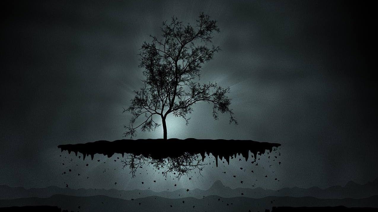 Eerie Floating Tree Onlyhdwallpapers Com Tree Abstract Wallpaper Cool Desktop Wallpapers Tree Wallpaper