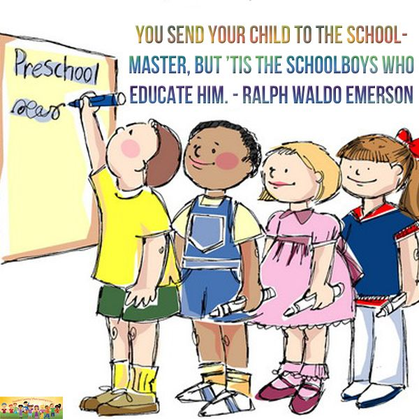"""""""You send your child to the school master, but it's the schoolboys who educate him."""" - Ralph Waldo Emerson #parenting"""
