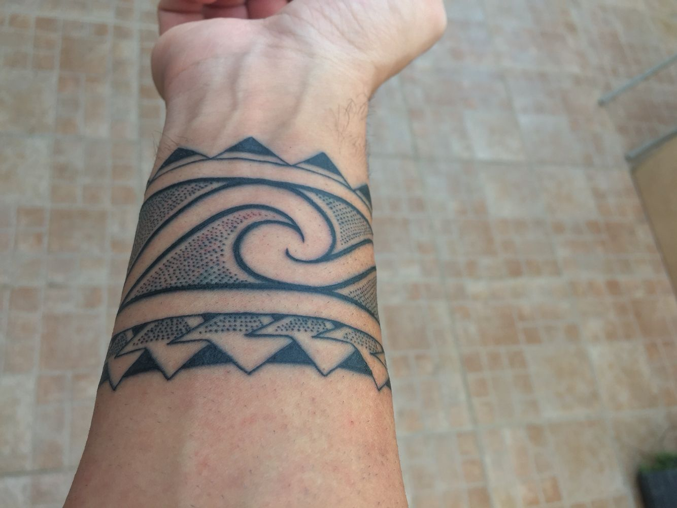 Maori Band Tattoo: My Maori Band Dots Tattoo