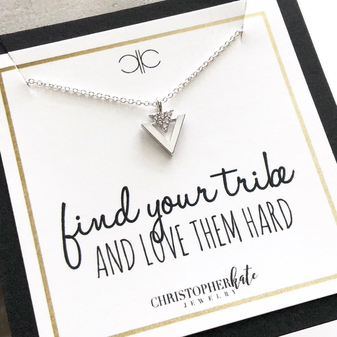 Download find your tribe and love them hard...Simple Pave CZ ...