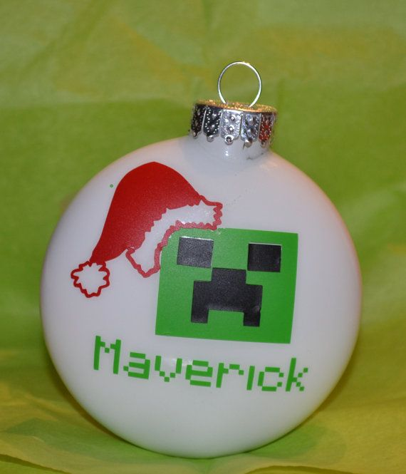 Personalized Custom Unofficial Minecraft Creeper Christmas ...