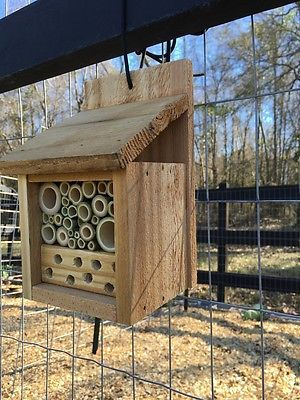 Mason Bee House - Cedar and Bamboo