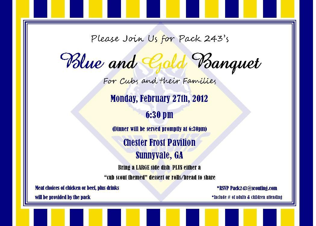 simple cub scout blue-and gold invites - Google Search | cub scouts ...