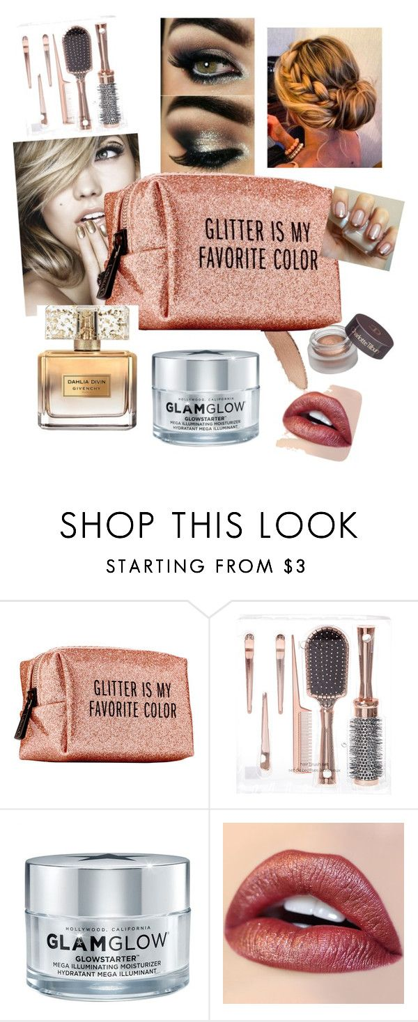 """""""All That Glitters"""" by squidgy1 ❤ liked on Polyvore featuring beauty, Pinch Provisions, GlamGlow and Givenchy"""