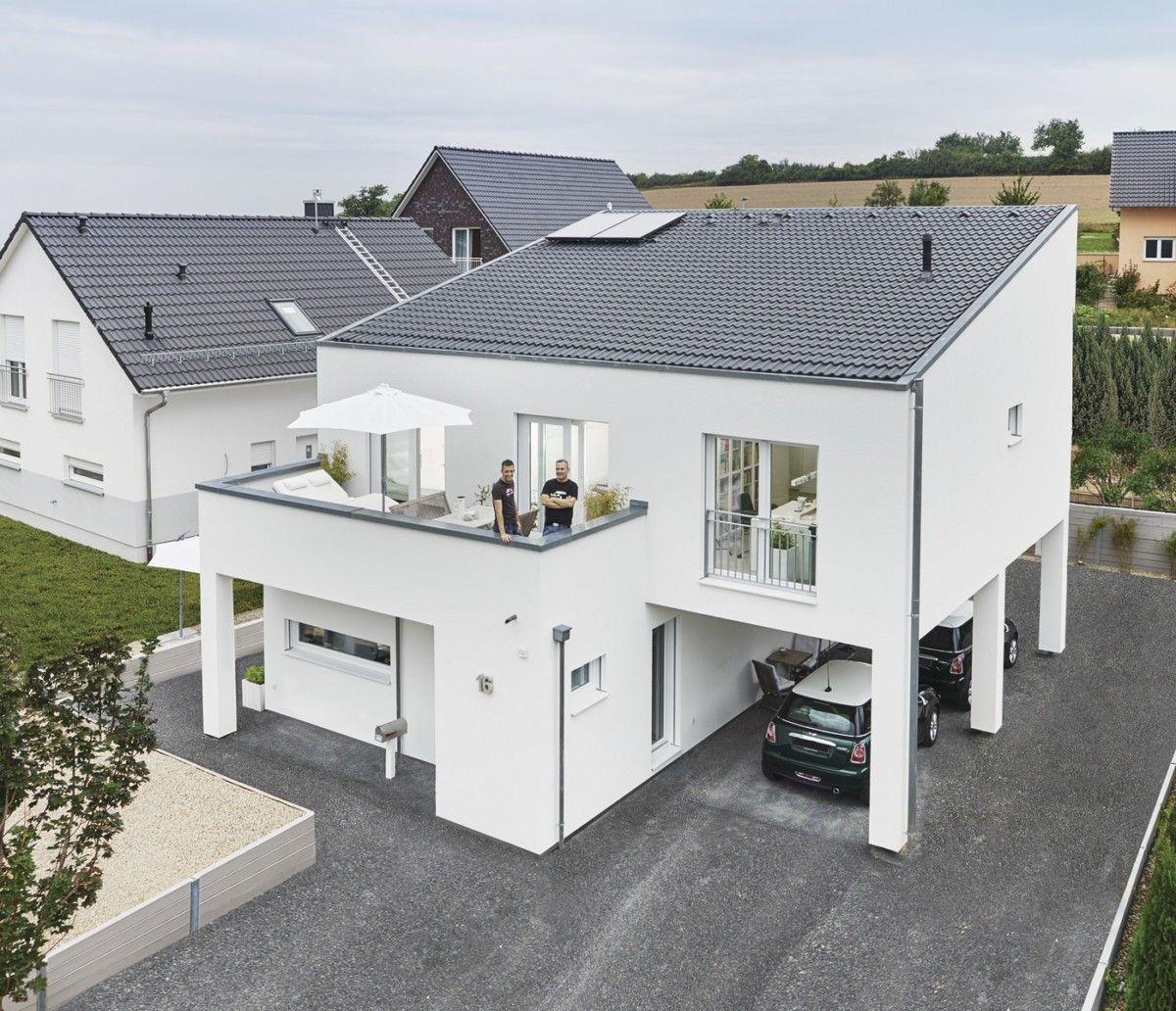 Modernes Haus mit Pultdach - WeberHaus - http://www.hausbaudirekt.de ...