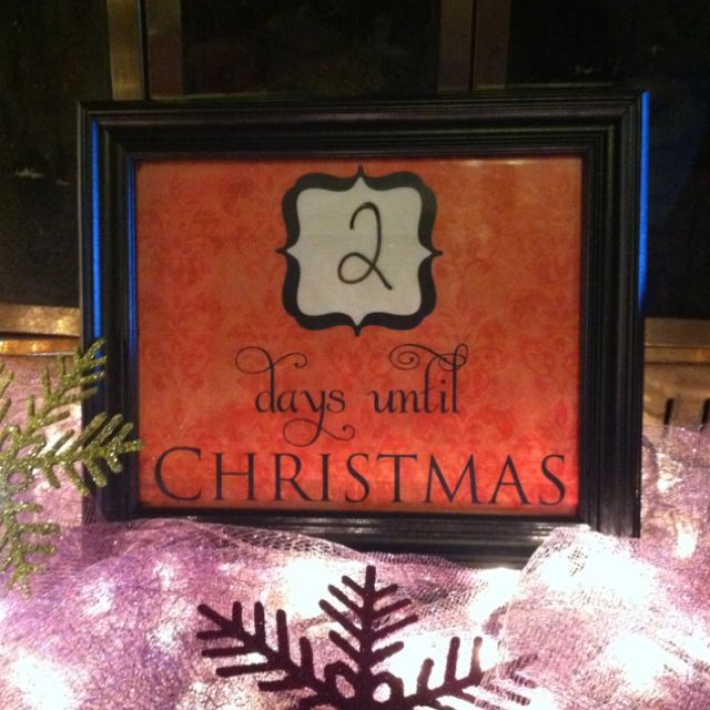 Countdown to Christmas! Using Microsoft Word make your own ...