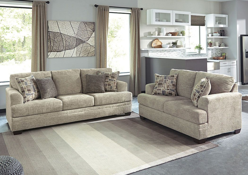 Barrish Sisal Sofa Loveseat Benchcraft With Images Couches