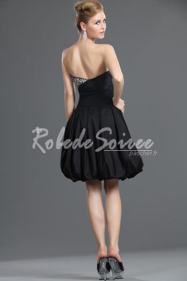 9c1513b7f87 Nouveau bustier perlé robe noire Bubble Party Dress -   Robe de Soirée Pas  Cher