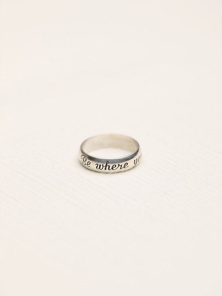 Quot Be Where You Are Quot I Should Replace My Promise Ring With