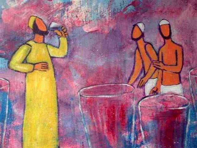 Noces de Cana - Le bon vin | Sacred art, Art, Painting