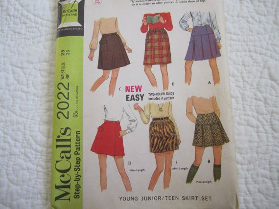 McCalls Skirt Pattern 2022 from 1969 Young by HazelnutHillbySherri, $4.00