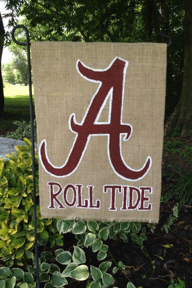 Captivating Burlap Alabama Garden Flag More