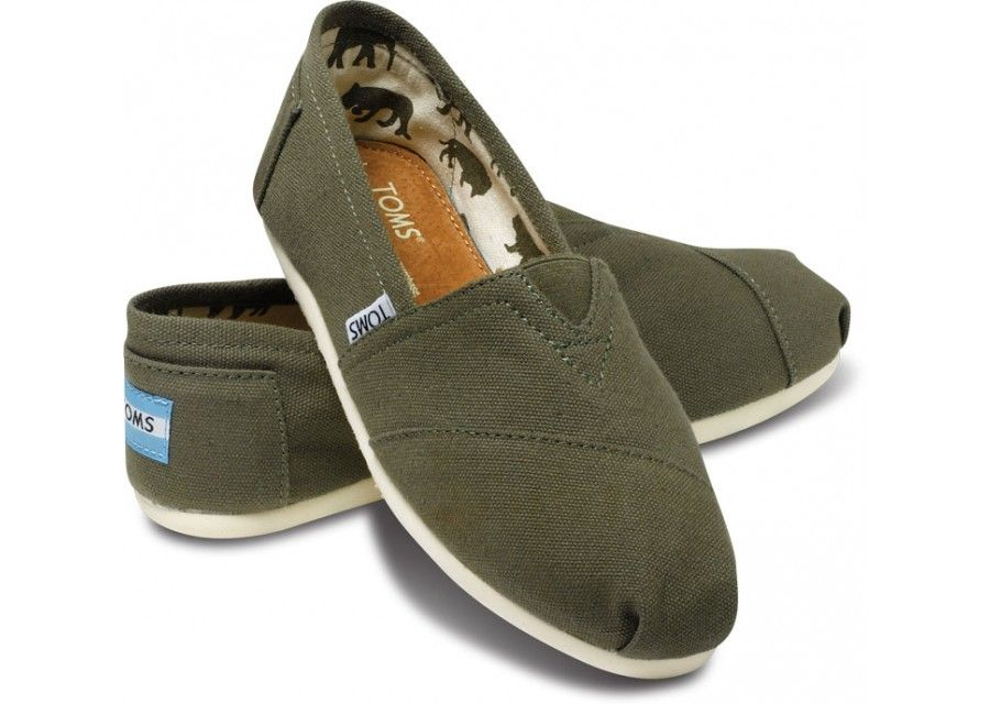 Discount Sale Mens Toms Army Green Canvas In the UK online