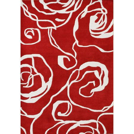 found it at wayfair new delhi ivory u0026 red floral area rug http
