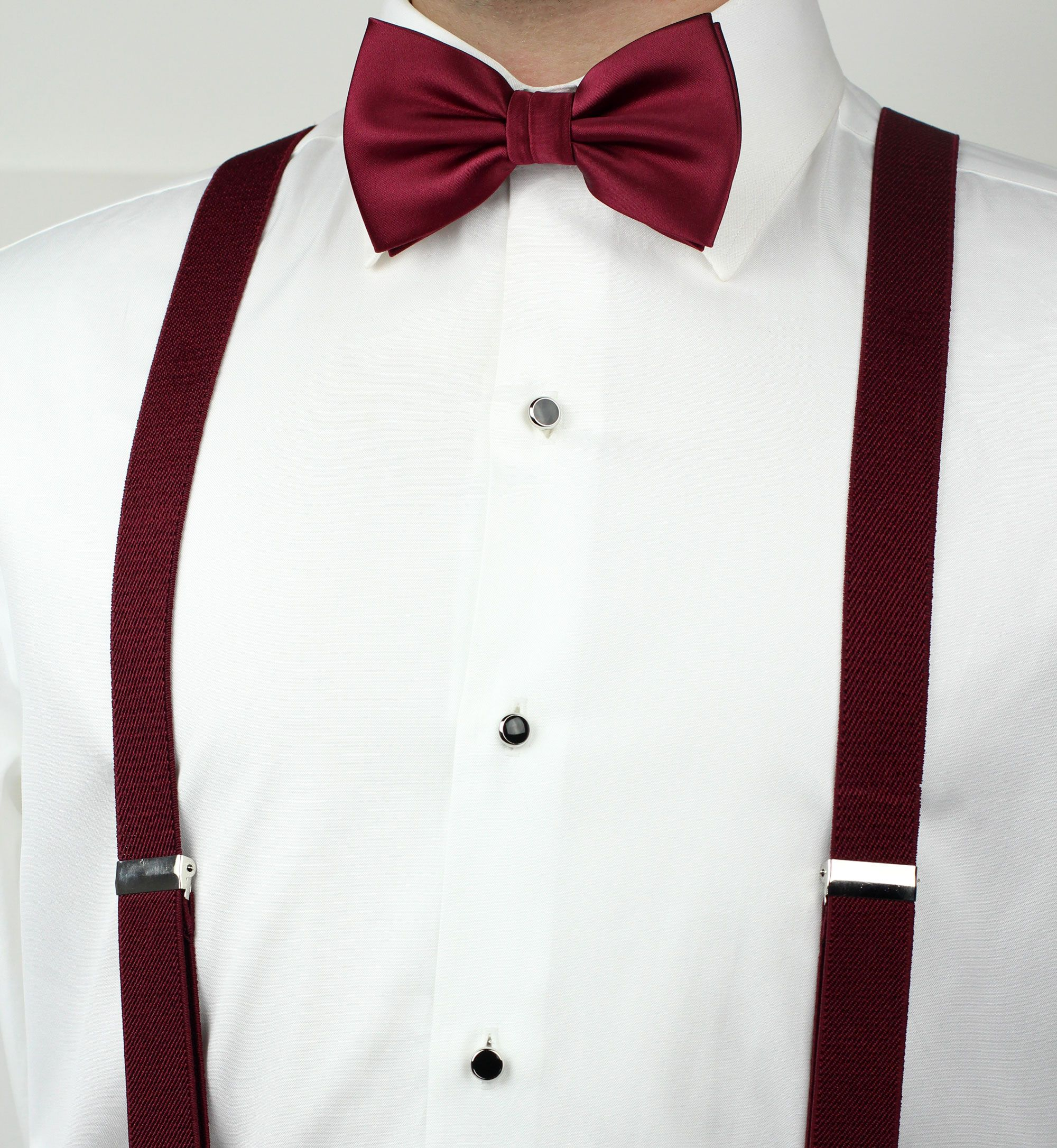 by Bow Tie House Slim Suspenders in 4 sizes Y-back Shape 2 cm in 5 colors