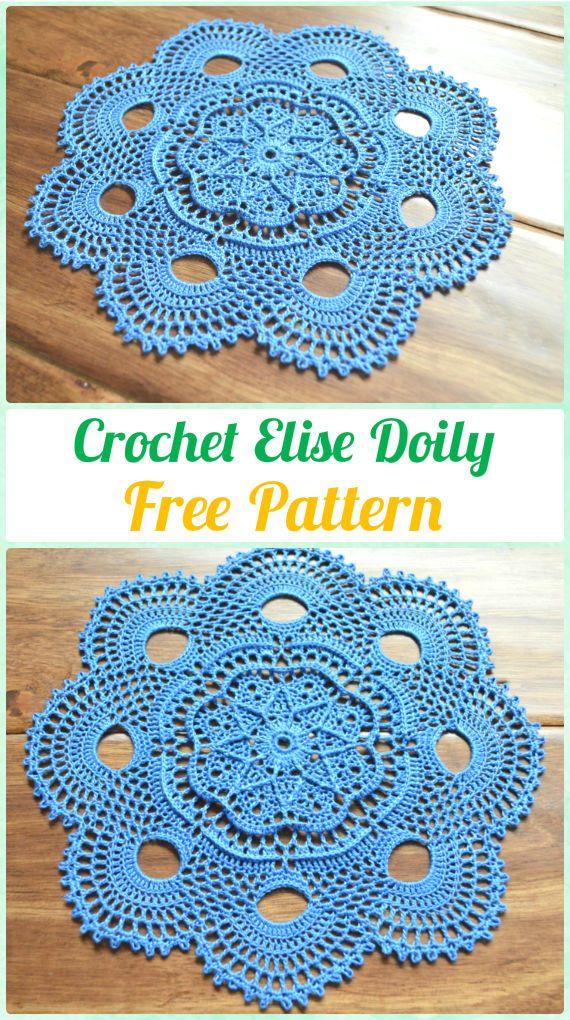 Crochet Doily Free Patterns & Instructions | Carpeta, Ganchillo y Tejido