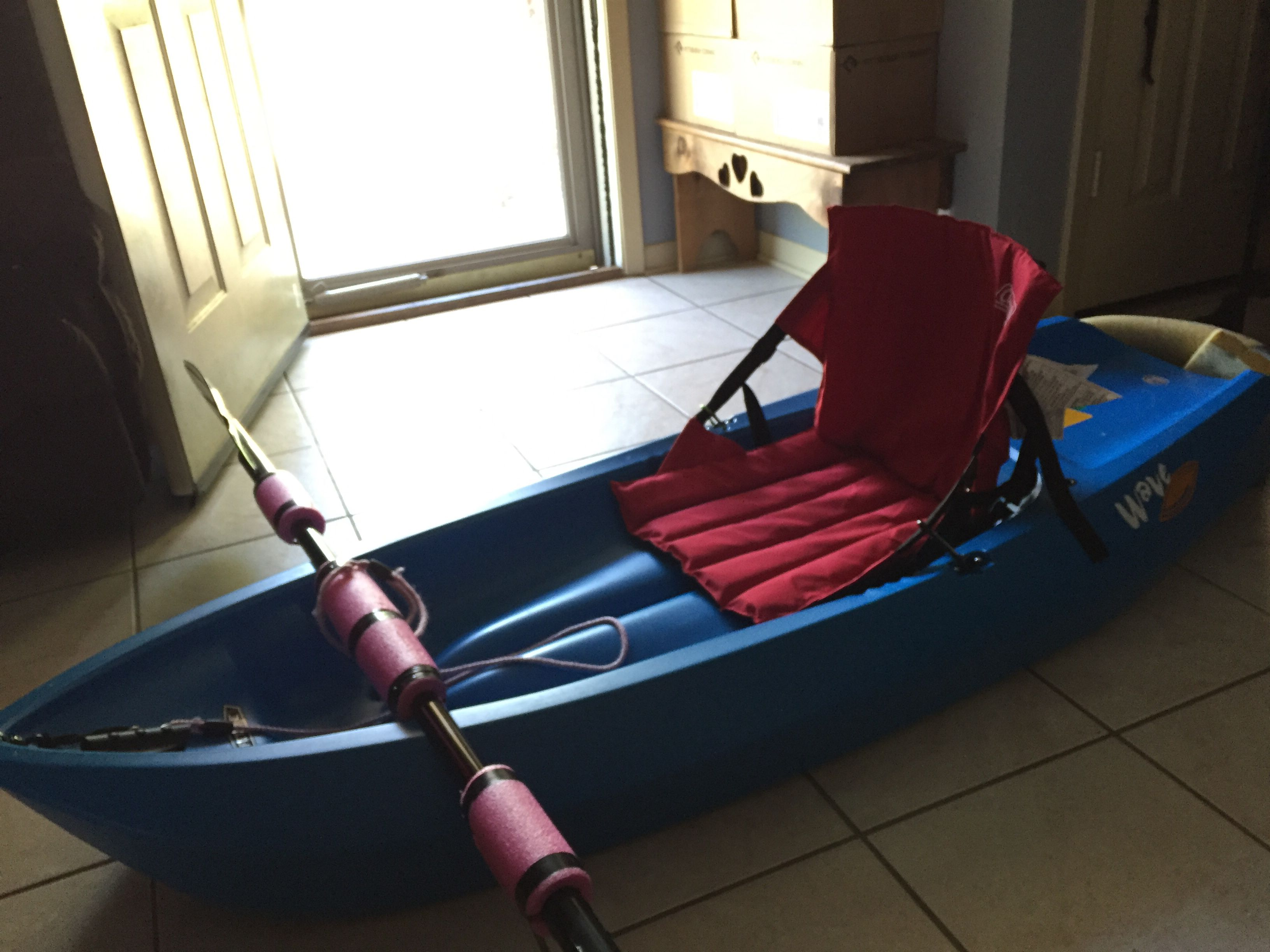 DIY kayak backrest Stadium seat for $10 attached with D-rings  | YES