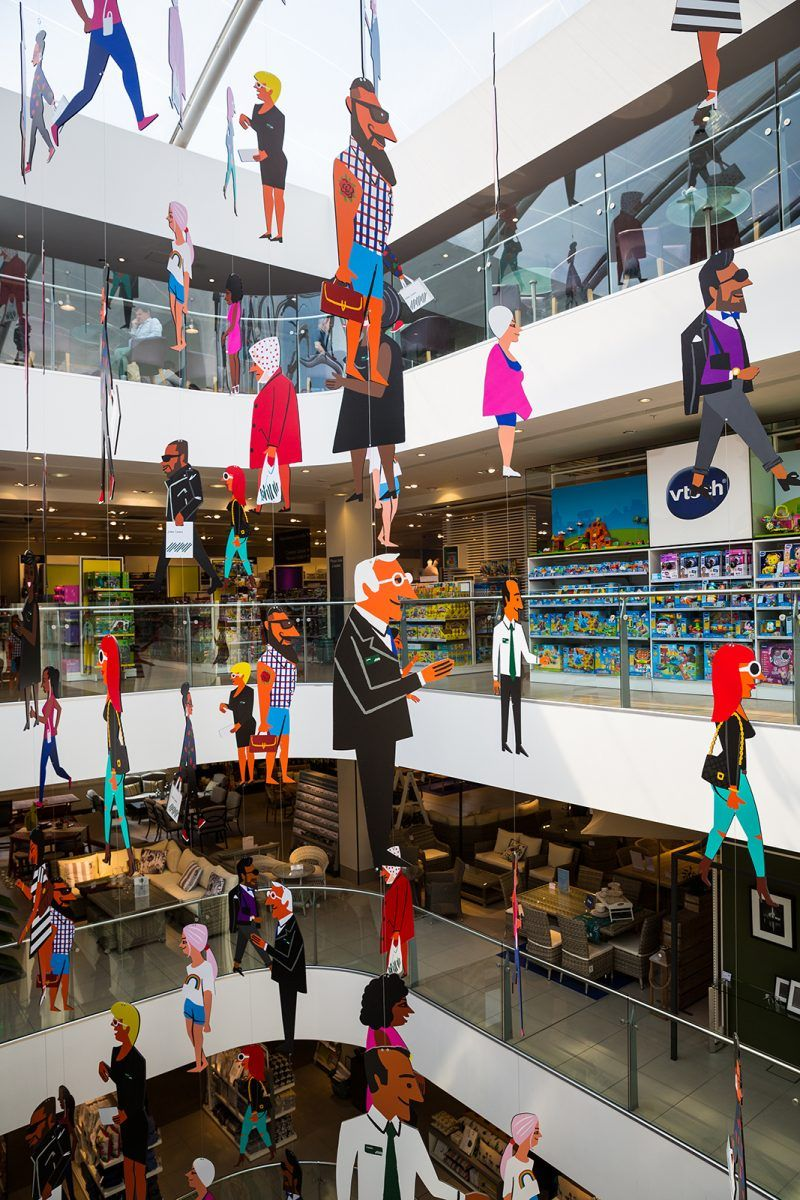 Commissioning Illustration for Retail in 2020 National