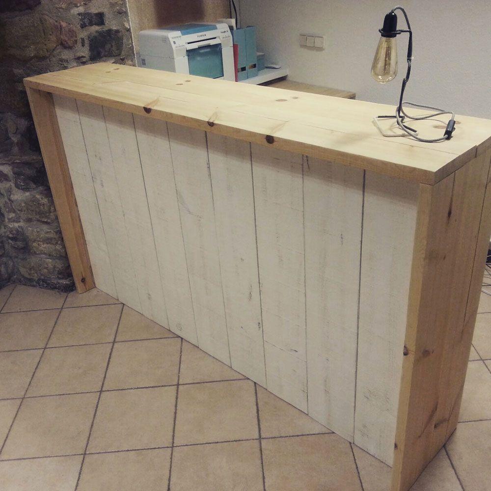 Mostrador madera de pino natural para tienda mind made - Mostradores de bar ...