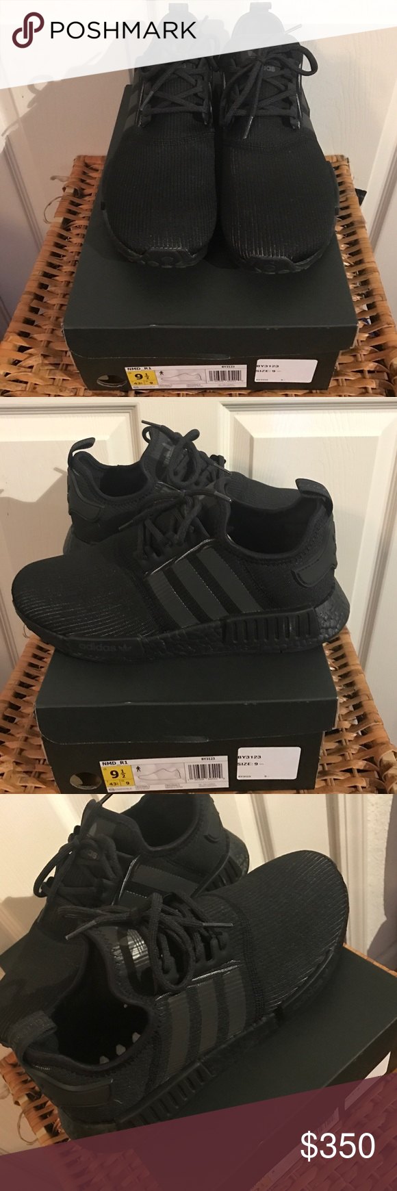 Adidas Triple Black NMD Deadstock never worn! Adidas Shoes Sneakers