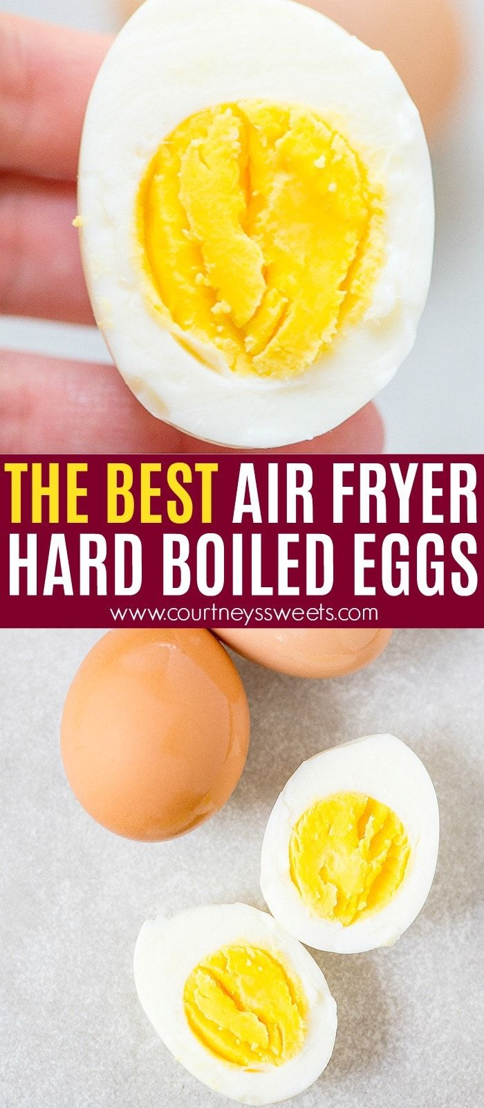 Air Fryer Hard Boiled Eggs #airfryerrecipes