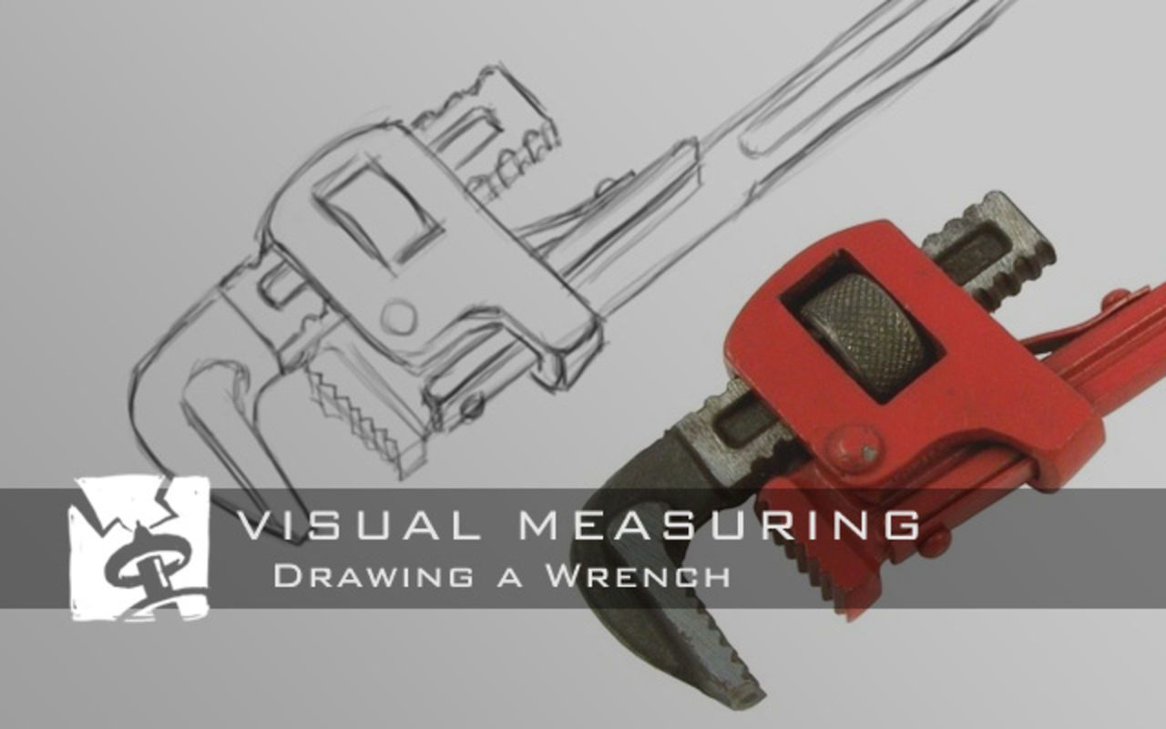 Visual Measuring - Wrench drawing.