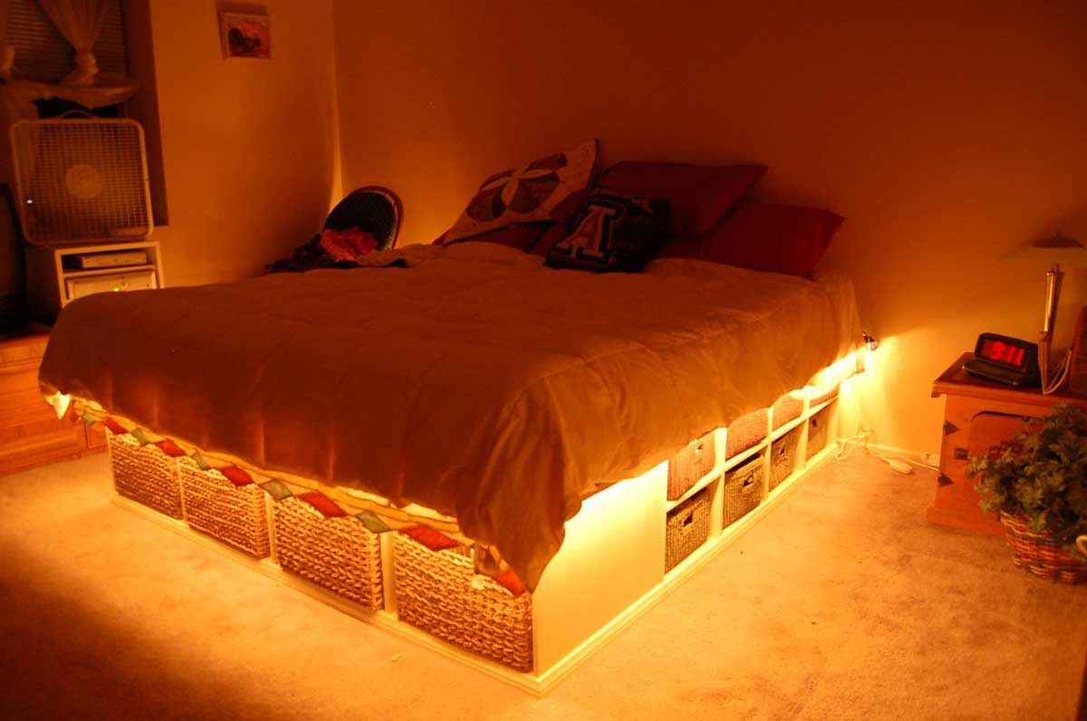 Popular And Flexible Rope Lighting Rope Lighting Bed Storage - Rope lights in bedroom