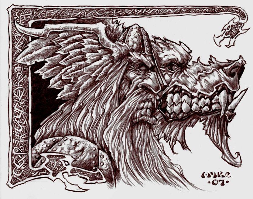 Odin & Fenris | Norrøn Mytologi | Pinterest
