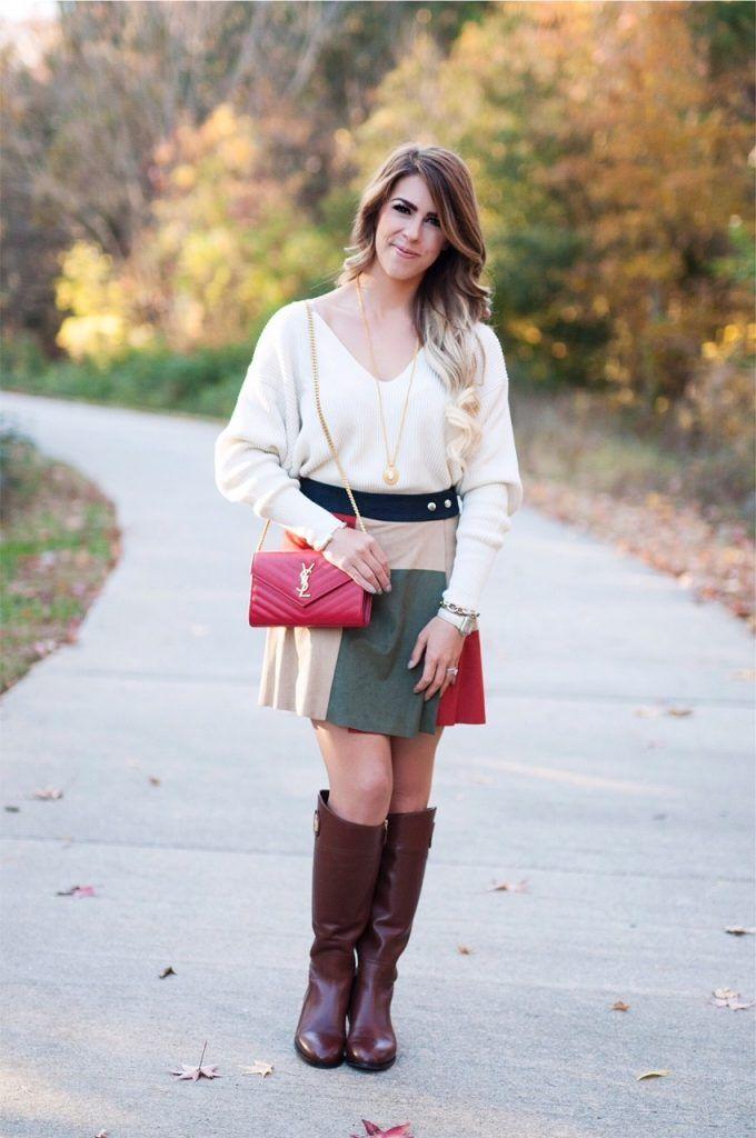 Color Block Skirt  5016f3062ce75
