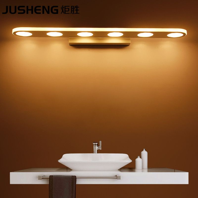 JUSHENG Modern 9/1215/18W LED Bathroom Lighting Fixtures Acylic Mirror Wall  Sconces 110 240V AC  Brand Name: JUSHENG Is Bulbs Included: Yes Light  Source: ...