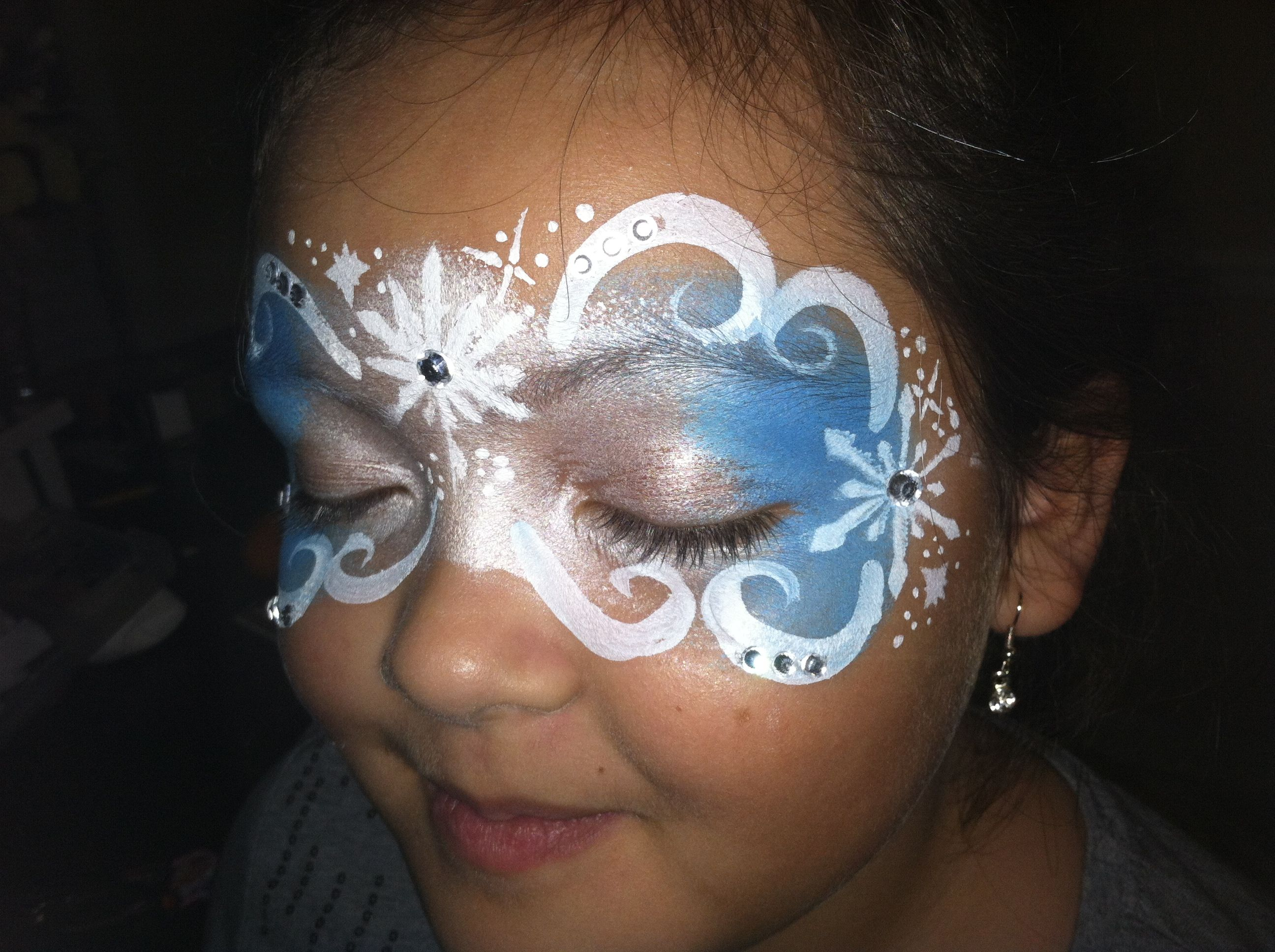 Frozen Stencil For Face Painting