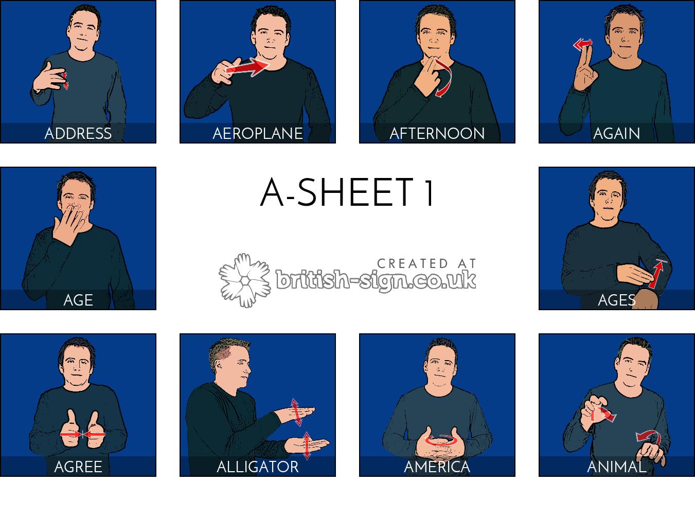 A Sheet 1 A Words