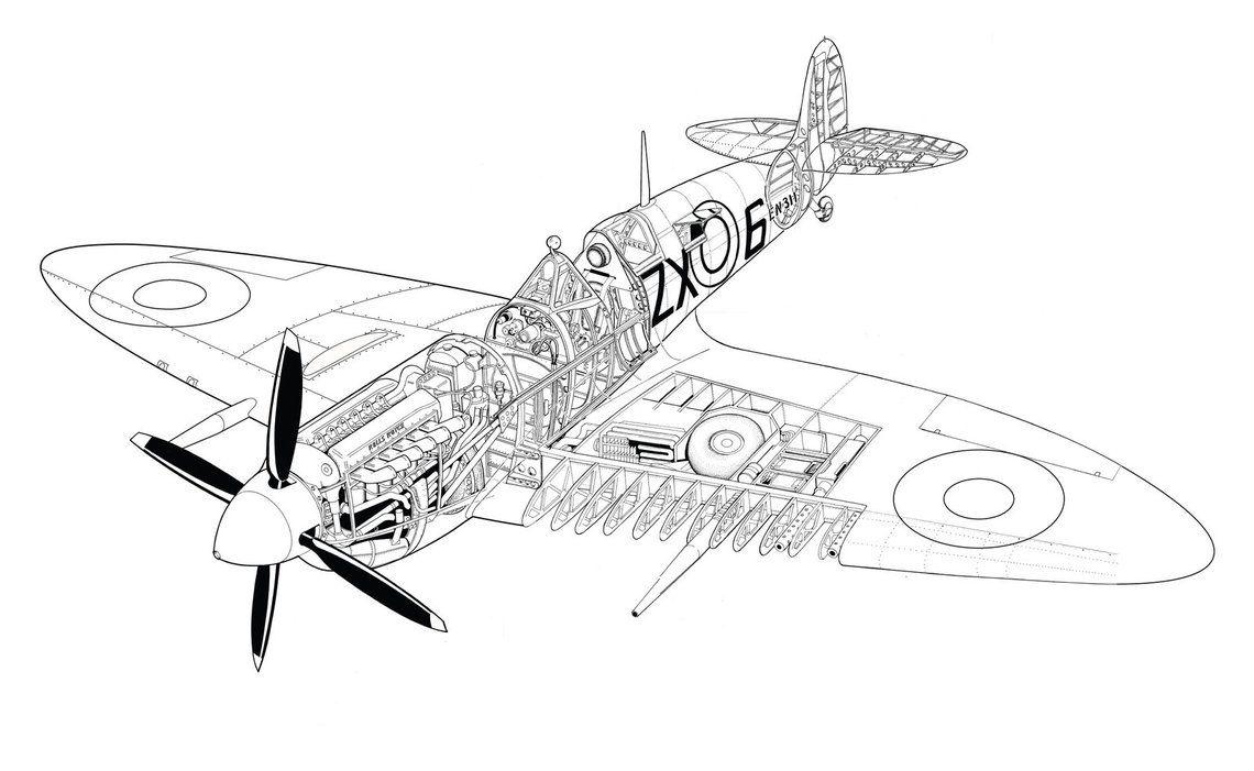 Supermarine spitfire by hod05.deviantart.com on