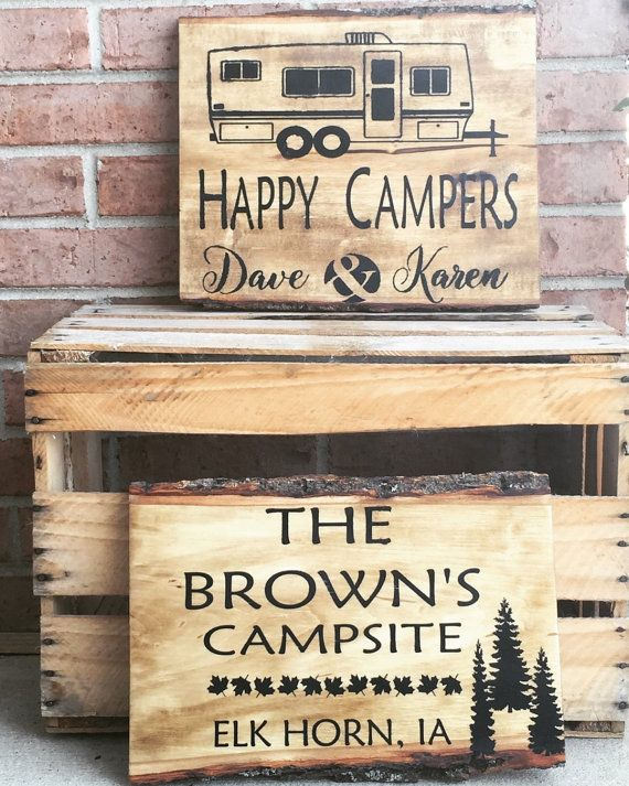 Personalized Wood Cabin Sign Personalized Wood Camper Sign