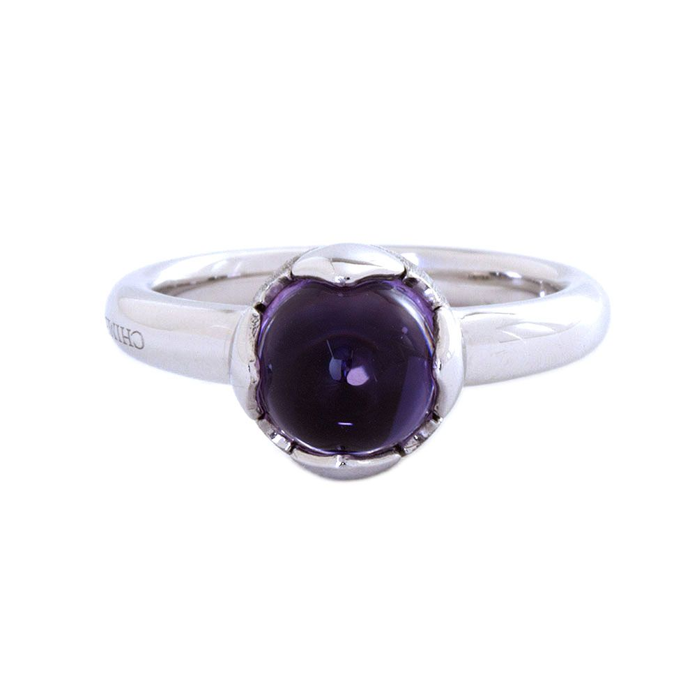 Chimento 18k white gold ring with amethyst center stone