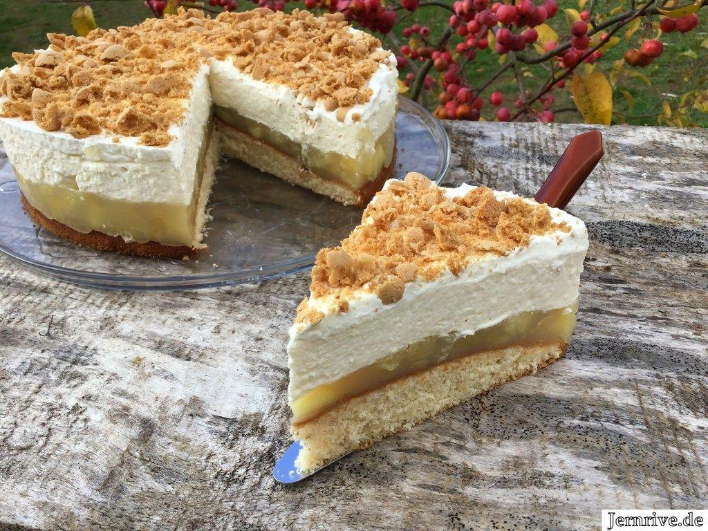 Apfel-Tiramisu-Torte - Aus meinem Kuchen und Tortenblog #kuchenundtorten