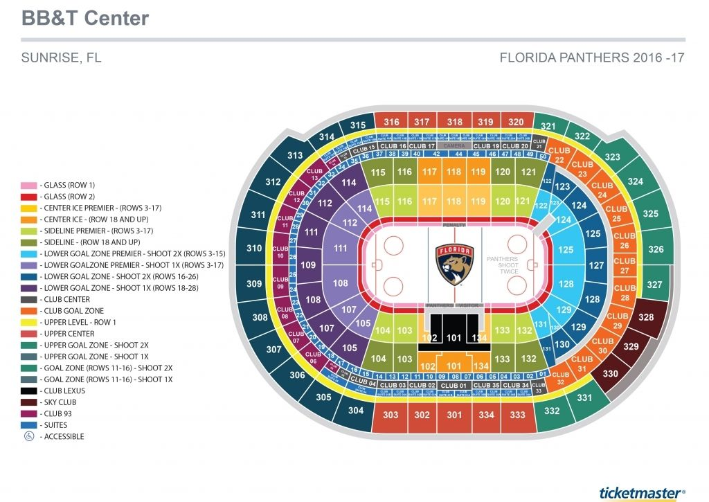 Bb T Center Camden Seating Chart Florida Panthers Seating Charts Chart