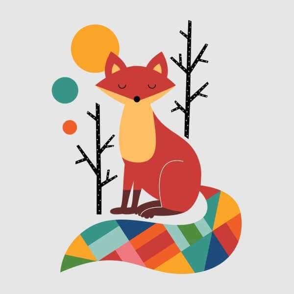 Andy Westface Rainbow Fox Sweatshirt - Grey - XL - Grey | Displate thumbnail