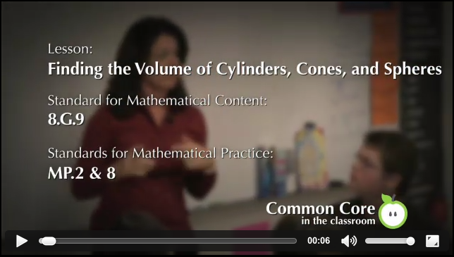 Video: Common Core Math Standards 8.G.9, MP.2 & 8.  In this segment, Kimberly Snowball, an 8th grade Math teacher at Campbell County Middle School …