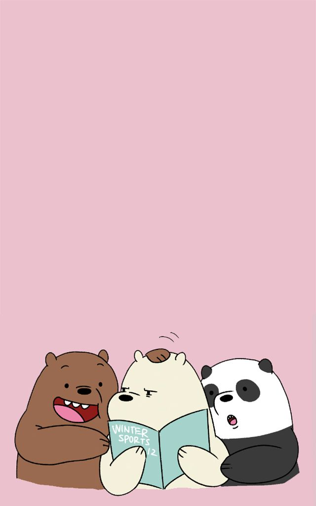 Panda Panpan Polar Bear Ice Bear Grizzly Bear Grizz We Bare Bears Kartun Boneka Hewan Beruang Kutub
