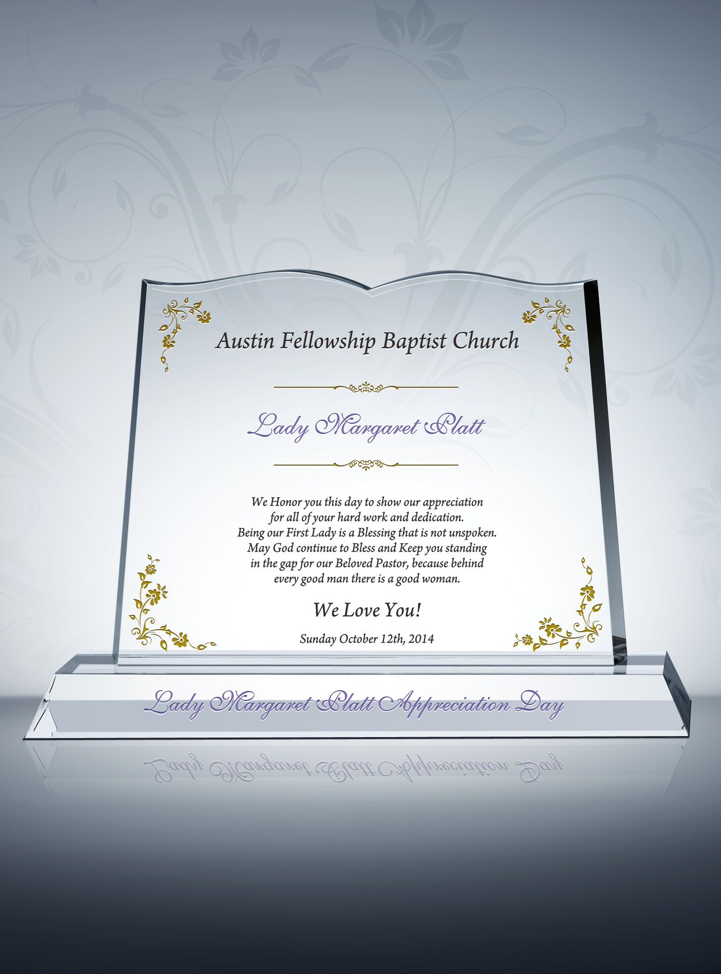 Pastor Wife Appreciation Gift Plaque  Pastors Wife Pastor And