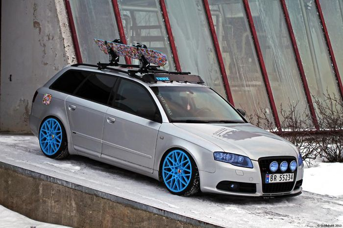 Ready for the snow covered slopes #audi