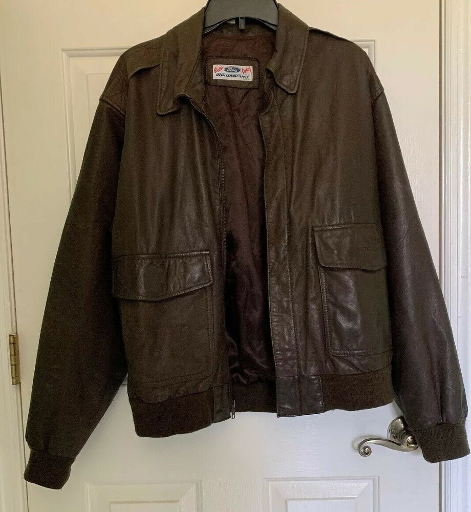 Details About Ford Motor Company Leather Jacket Mens Small S Embossed Vtg Made In Korea Leather Jacket Men Ford Motor Ford Motor Company