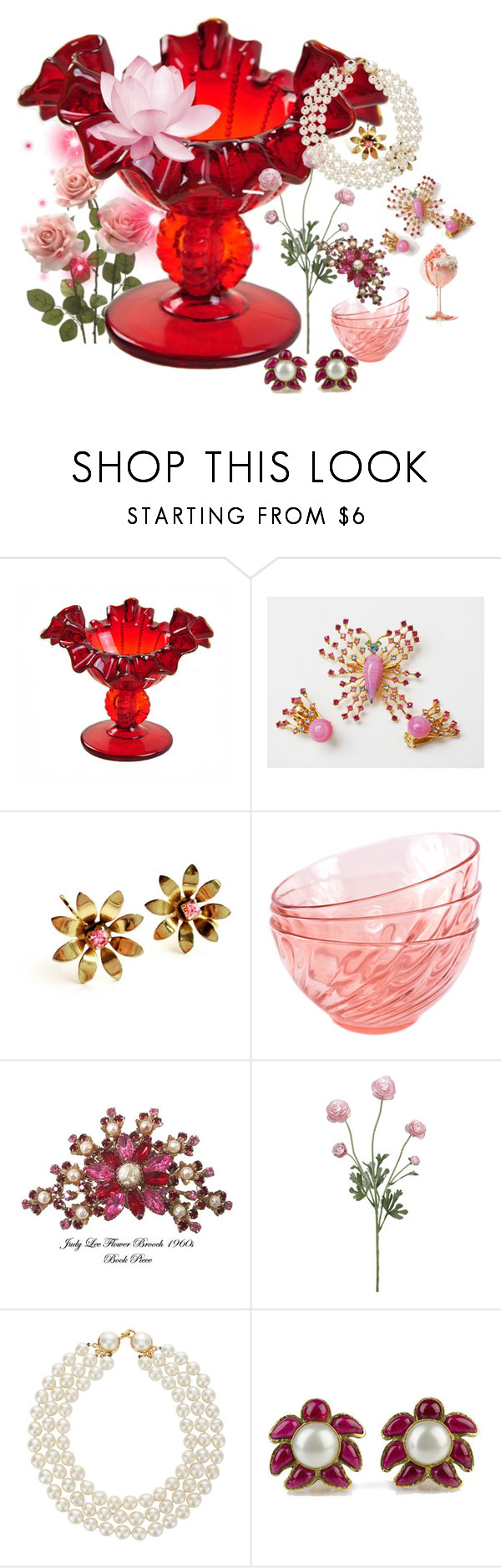 """""""Make It Pretty!"""" by plumsandhoneyvintage ❤ liked on Polyvore featuring interior, interiors, interior design, home, home decor, interior decorating, Fenton, Chanel and vintage"""
