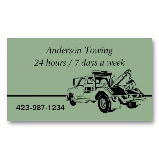 A Tow Truck Grapic Business Cards