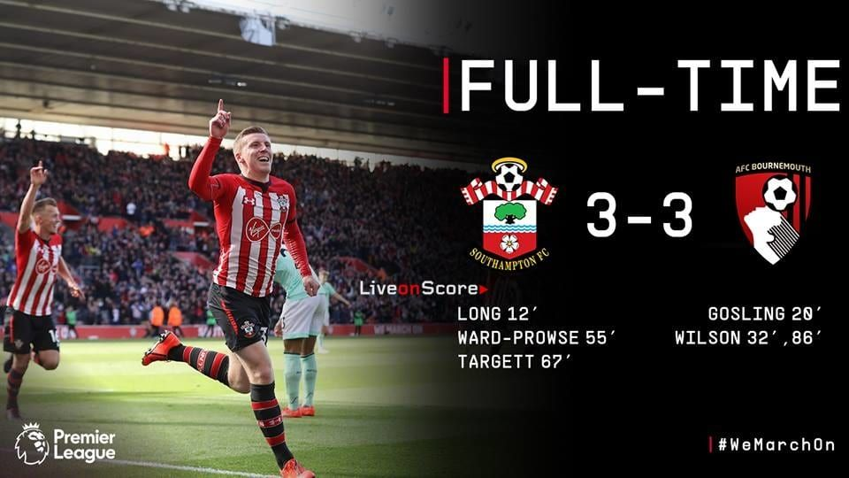 Southampton 3 3 Afc Bournemouth Full Highlight Video Premier