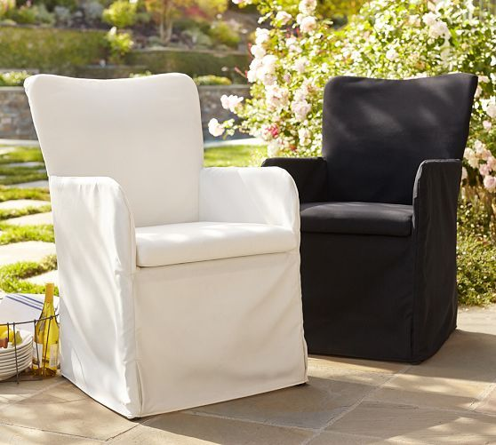 Slipcovered Indoor/Outdoor Dining Chair | Pottery Barn
