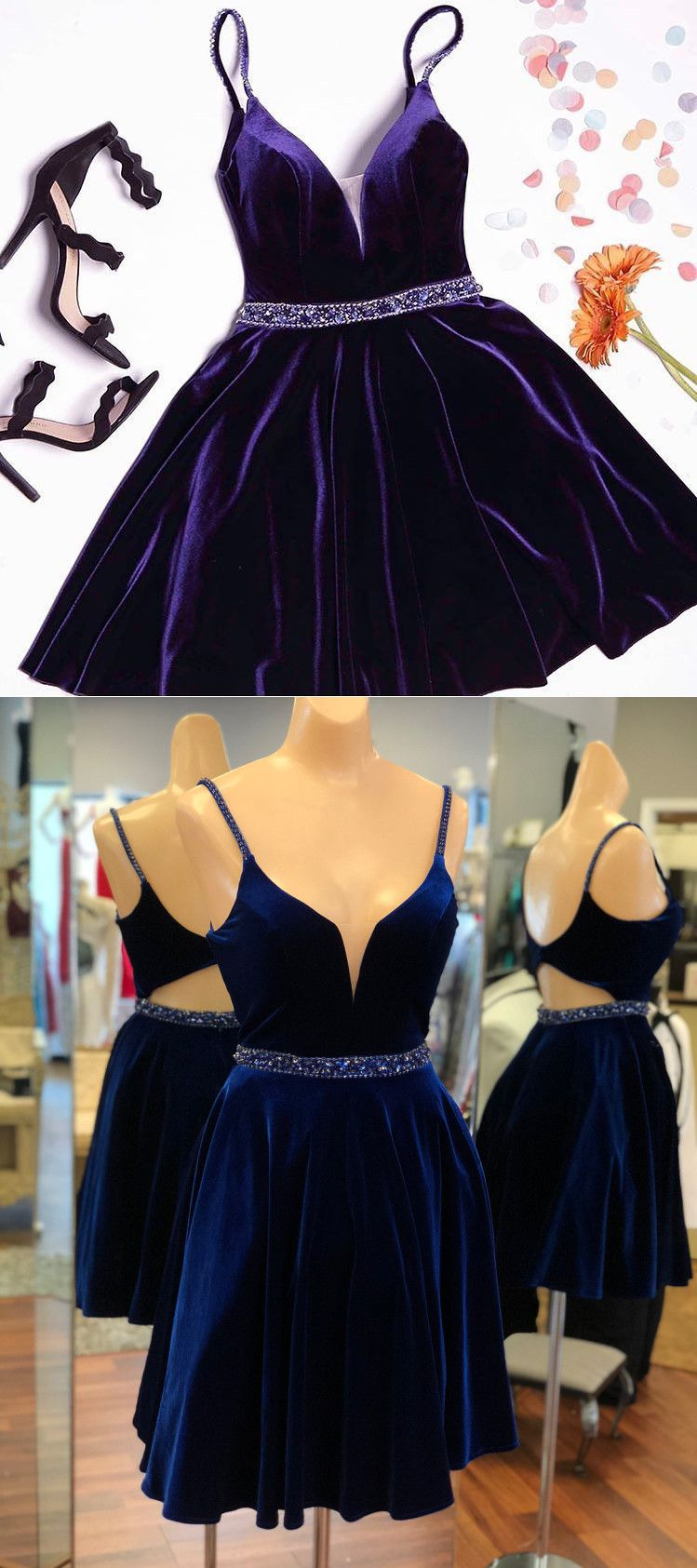 Cute straps short burgundy homecoming dress prom dress from