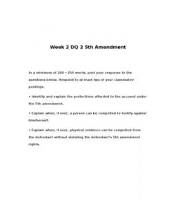 5th Amendment In A Minimum Of 200 250 Words Post Your Response To The Questions Below Respond To At Least Two Of Yo This Or That Questions Jury Trial Words